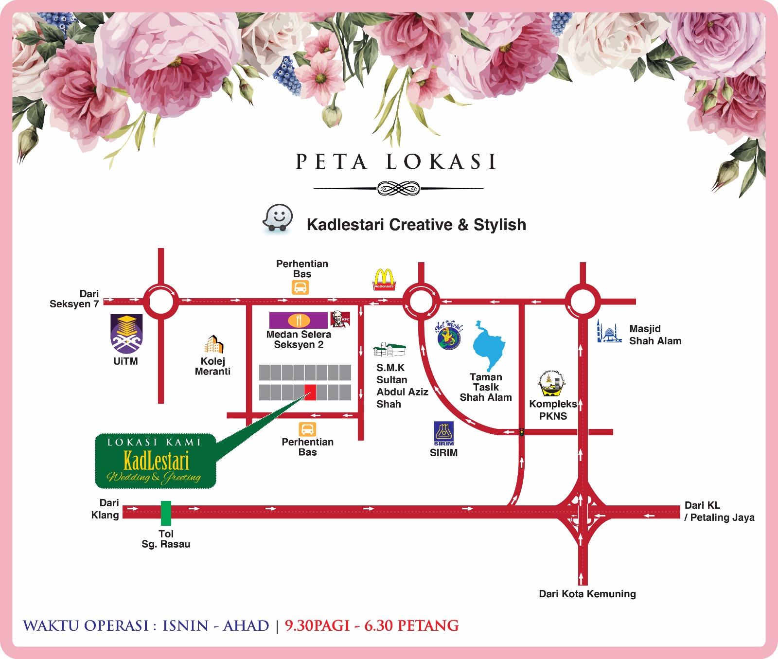Kadlestari Lokasi Kedai Kad Kahwin Shah Alam Kadlestari