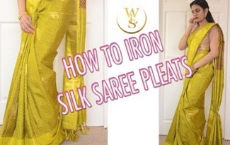 How to drape your saree | how to iron your saree pleats | With Love Sindhu