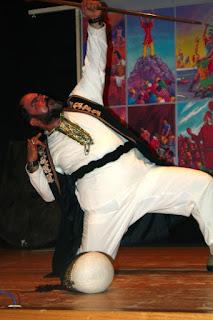 Irano aktorius naqqālipasirodymo  metu