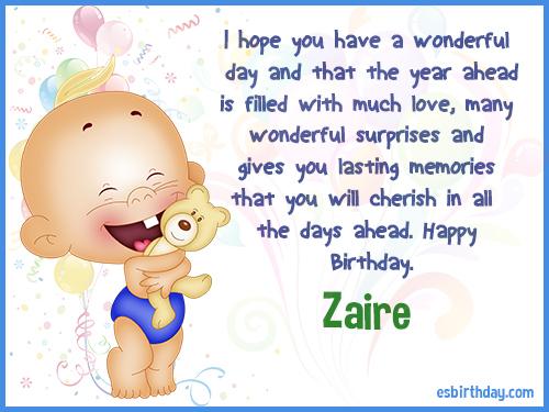 Zaire Happy birthday