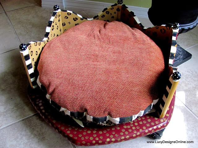 animal print dog bed