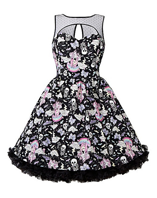 Hell Bunny skull rockabilly dress