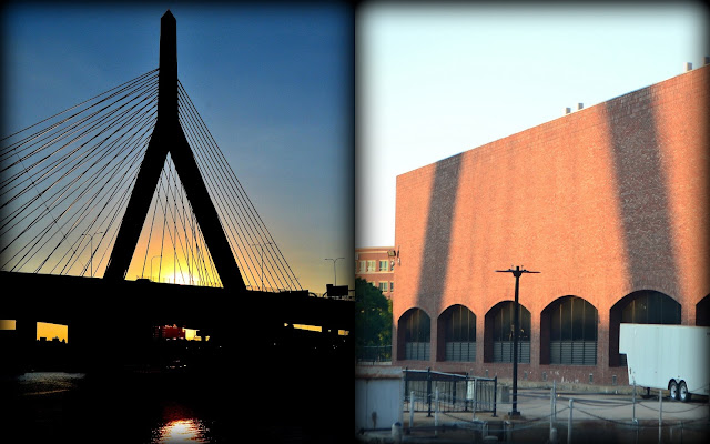 Zakim, Bunker Hill, Bridge, Charles River, Dam, Boston, Massachusetts, shadow