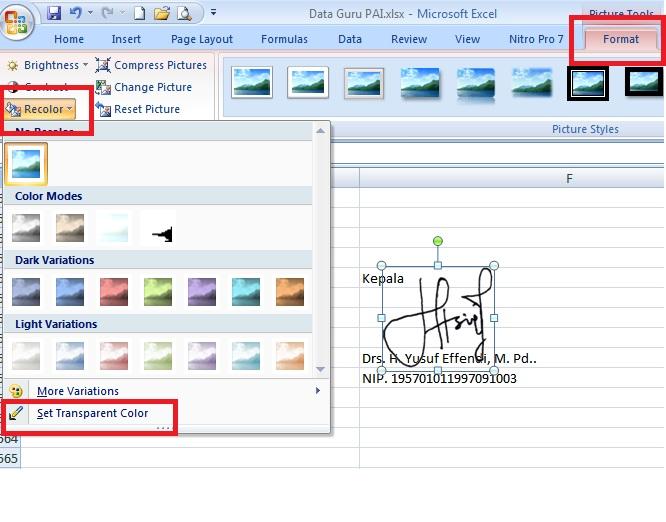 Trik Menempatkan Gambar Di Belakang Teks Pada Ms Excel Ekotriyanto Com