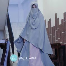 Bergo plus Niqab / Cadar - Bergo Syari Shafiyah by Elmina Indoensia