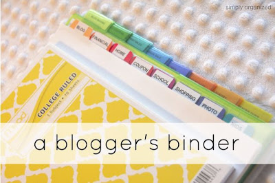 Blogger Binder (Organizing)