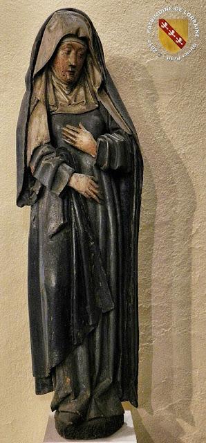 NANCY (54) - Musée lorrain : Vierge au Calvaire (XVe siècle)