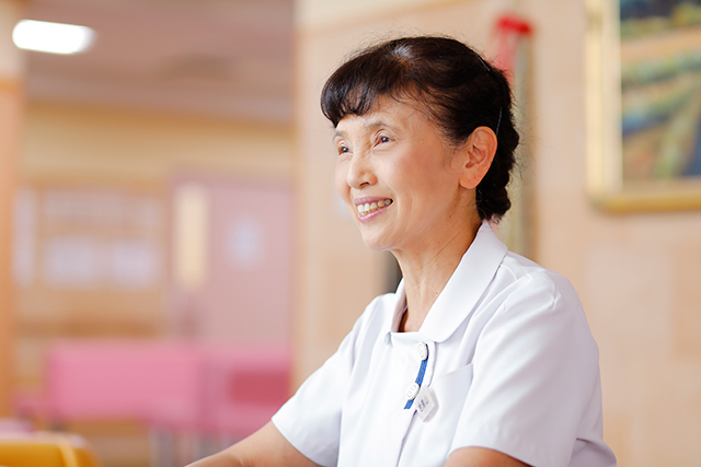 群馬県館林市の館林記念病院、看護部長の世鳥山恵美子氏