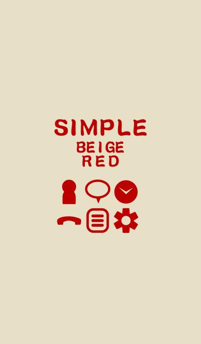SIMPLE beige*red*