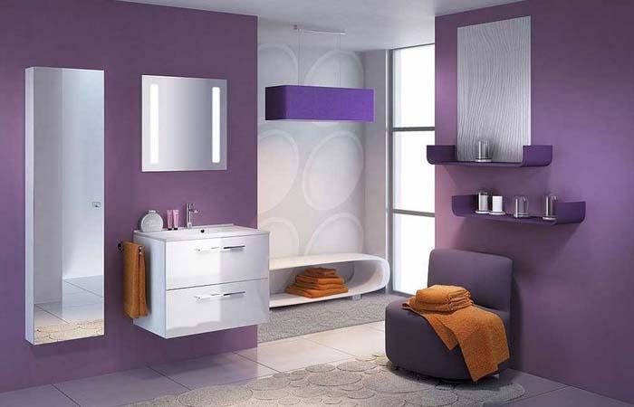 modern tasarımlı banyo dekorasyonu