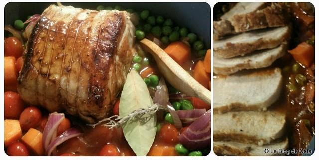 Muschi de porc cu legume si otet balsamic