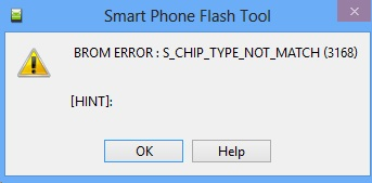 Penjelasan Error SP Flashtool
