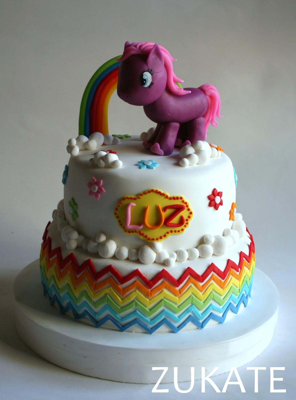 torta mi pequeÑo pony para luz zukate