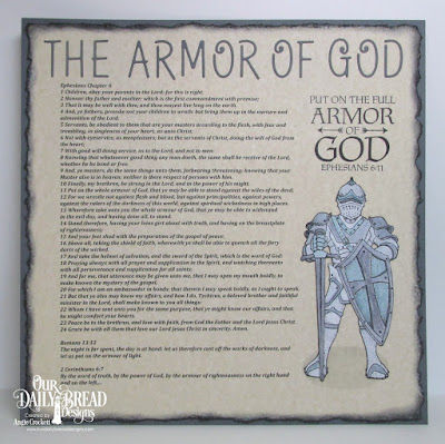 ODBD Armor of God, ODBD Full Armor, ODBD Custom Alphabet Dies, Card Designer Angie Crockett
