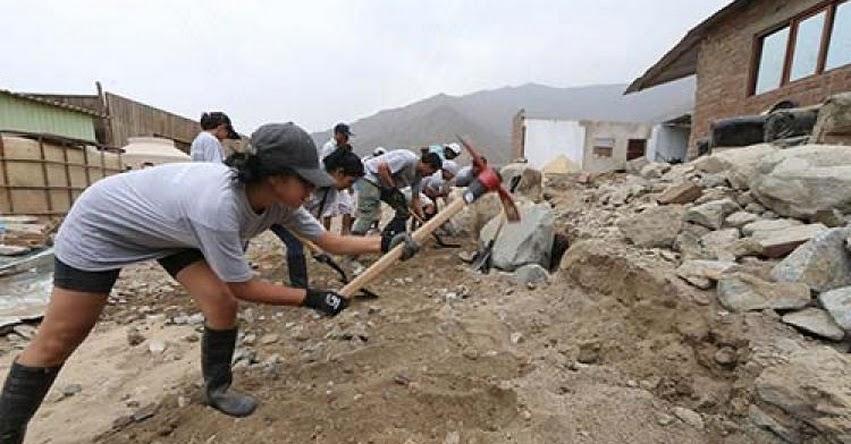 Voluntarios que apoyen en zonas afectadas por desastres tendrán seguro gratuito, informó la Asociación Peruana de Empresas de Seguros - APESEG