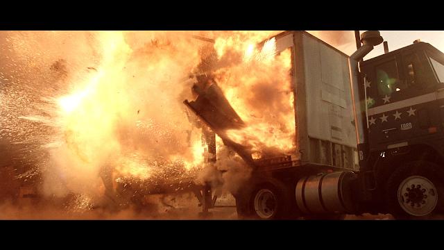 Semi-Truck Trailer Exploding
