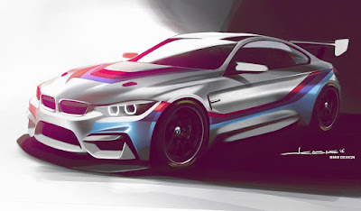 BMW M4 GT4 2018 (Rendering) Front Side