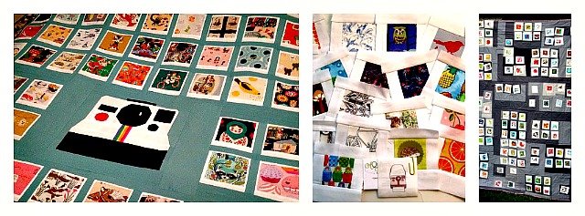 polaroid quilt, polaroid block, polaroid photo quilt block