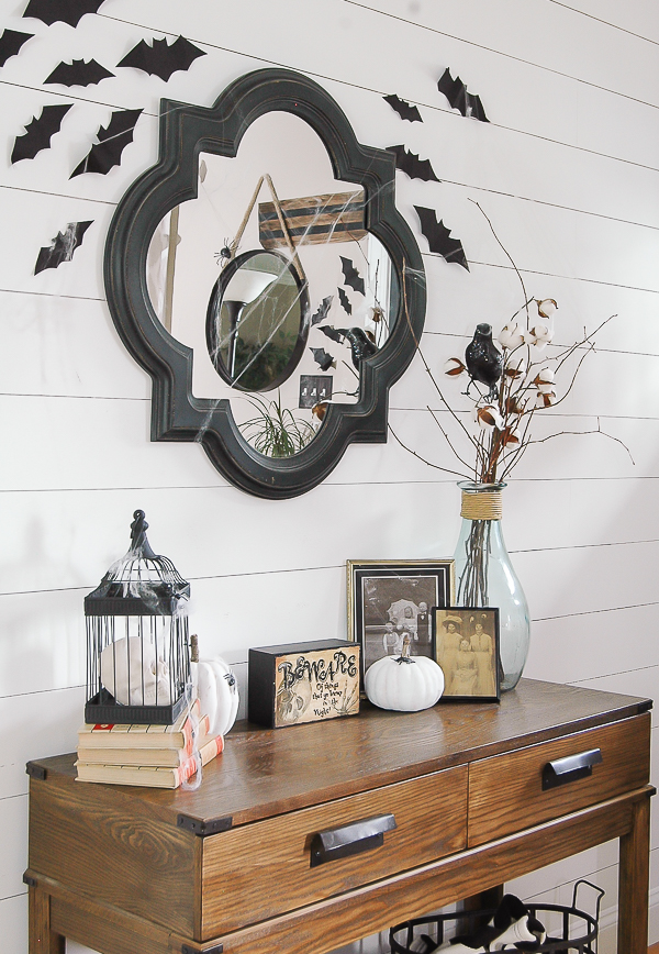 Bats and thrifty halloween decor