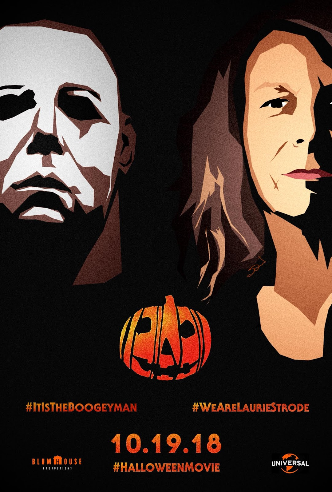 the horrors of halloween: halloween (2018) fan artwork posters