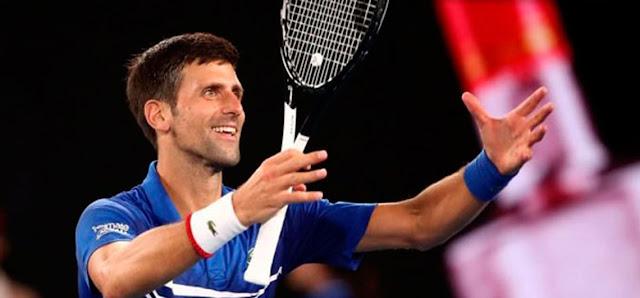 Novak Djokovic en ranking de ATP mundial N. 1 y argentino  Juan Martín del Potro N. 4.