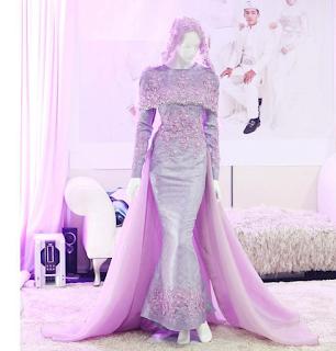 baju pengantin purple cantik