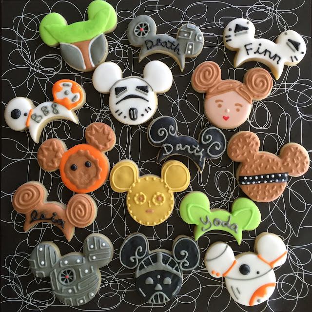 Star Wars Mickey Ears - Sweet Jenny Belle - Decorated Cookies