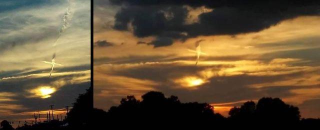 Mysterious Cross appears in the sky during geoengineering activities across the US  Cross%2Bsky%2Bchemtral%2Bgeoenigeering%2B%25281%2529