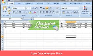 Input Data Kelulusan Siswa
