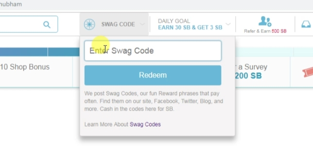 Redeem SB Code