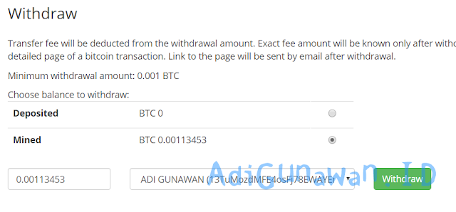 Withdraw Hashing24 cloud mining bitcoin