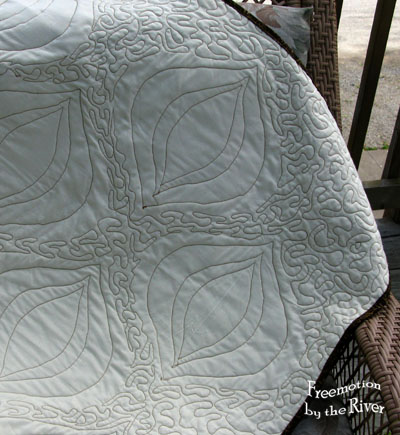 Quilted back of Texas Teardrops