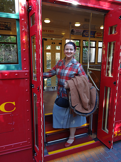 California Adventure Dapper Day 1950s trolley