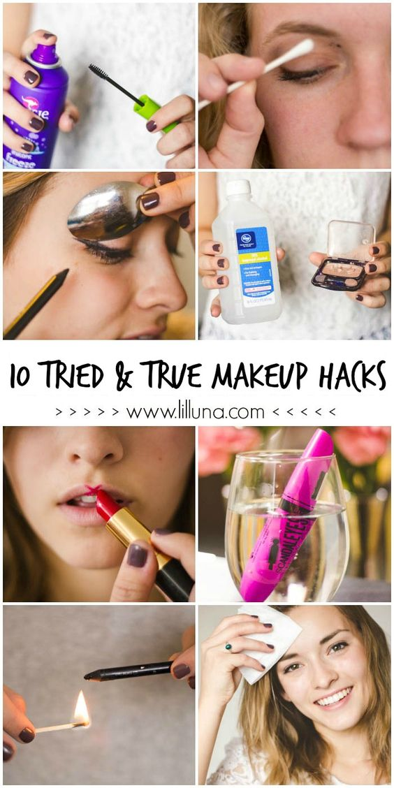 10 Tried & True Makeup Hacks that every girl should know