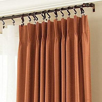 window treatments  6 inch pinch pleat