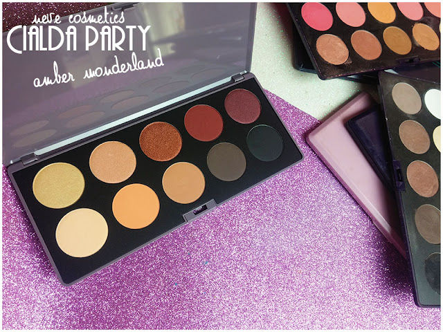 amber wonderland  neve cosmetics cialda party review recensione makeup opinioni