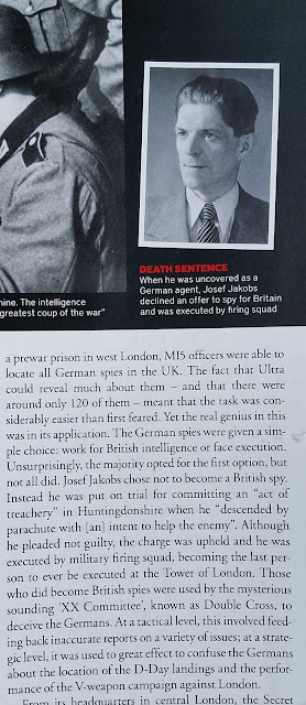 BBC History Magazine - The Secret History of Spies - portion of p. 61