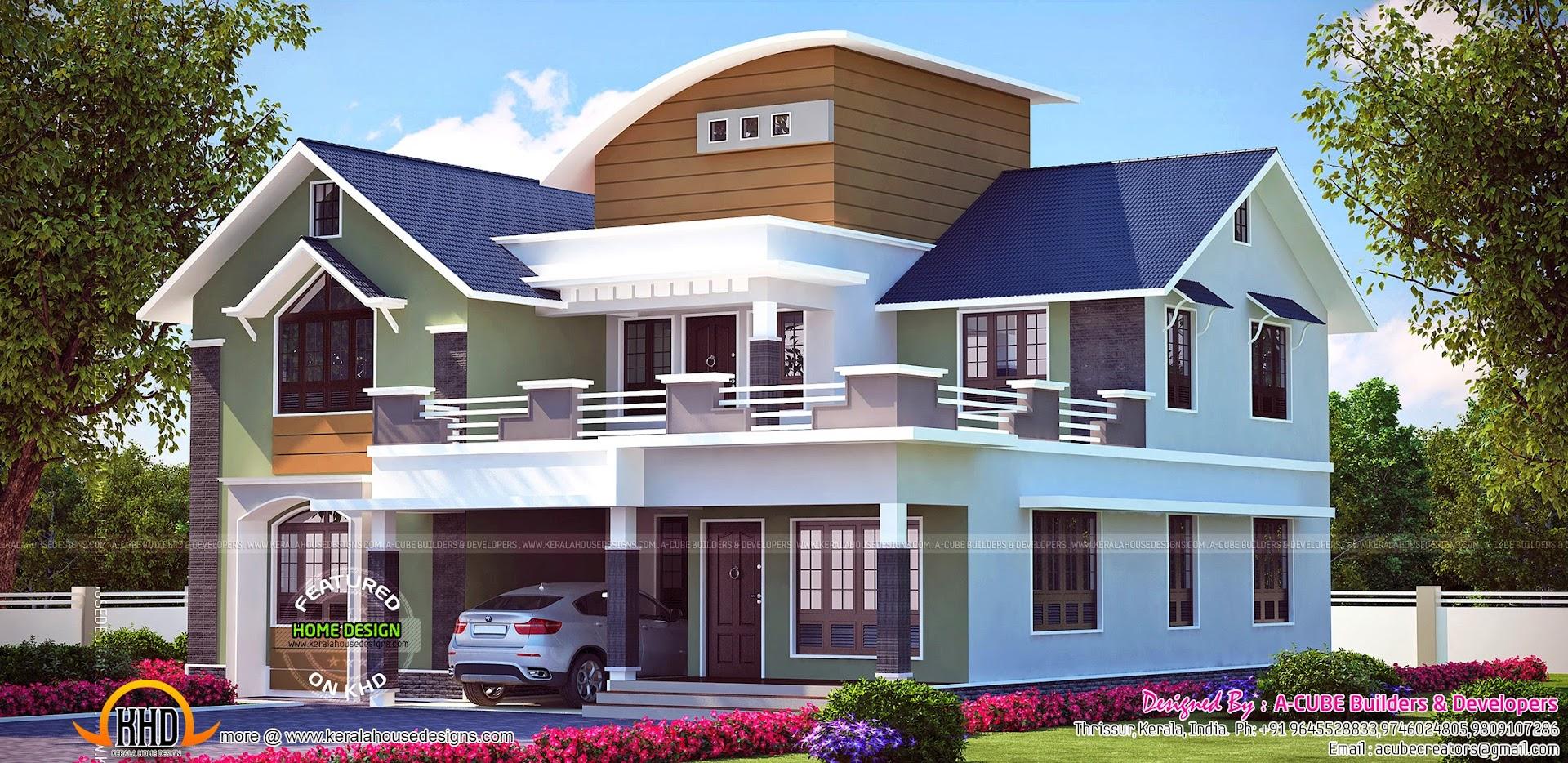 Kerala home design and floor plans beautiful kerala house for Beautiful kerala house plans