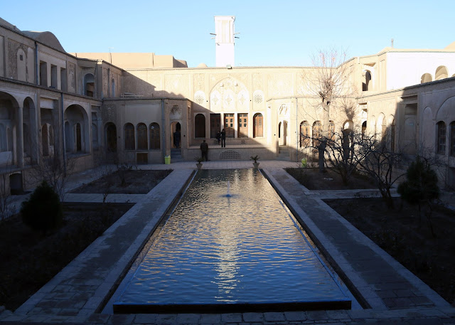 courtyard of a Persian house