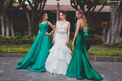 Vestidos de Damas de Honor Verde