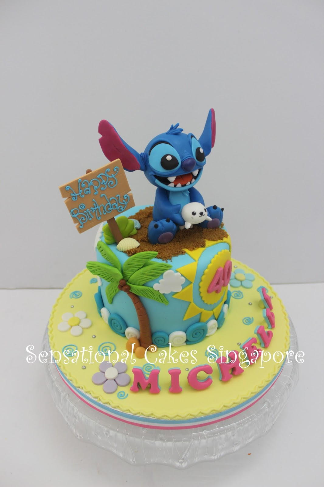 Stitch Holdng A Birthday Cake
