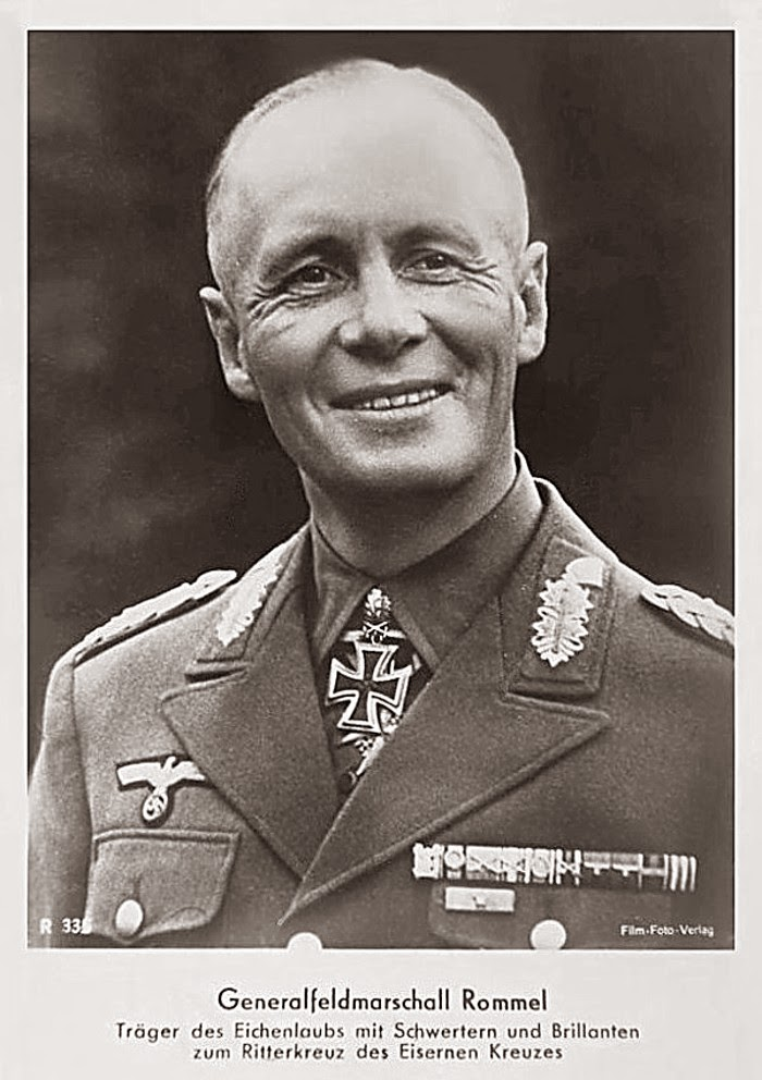 Erwin Rommel Ritterkreuzträger Knight Cross Holder Postcard