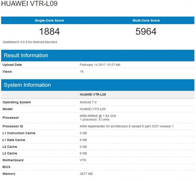 Huawei P10 GFXBenchmark