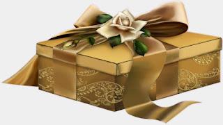 La scatola dorata piena di baci e di amore