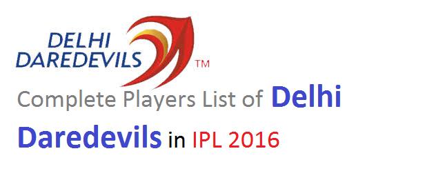 delhi daredevils team squad 2016