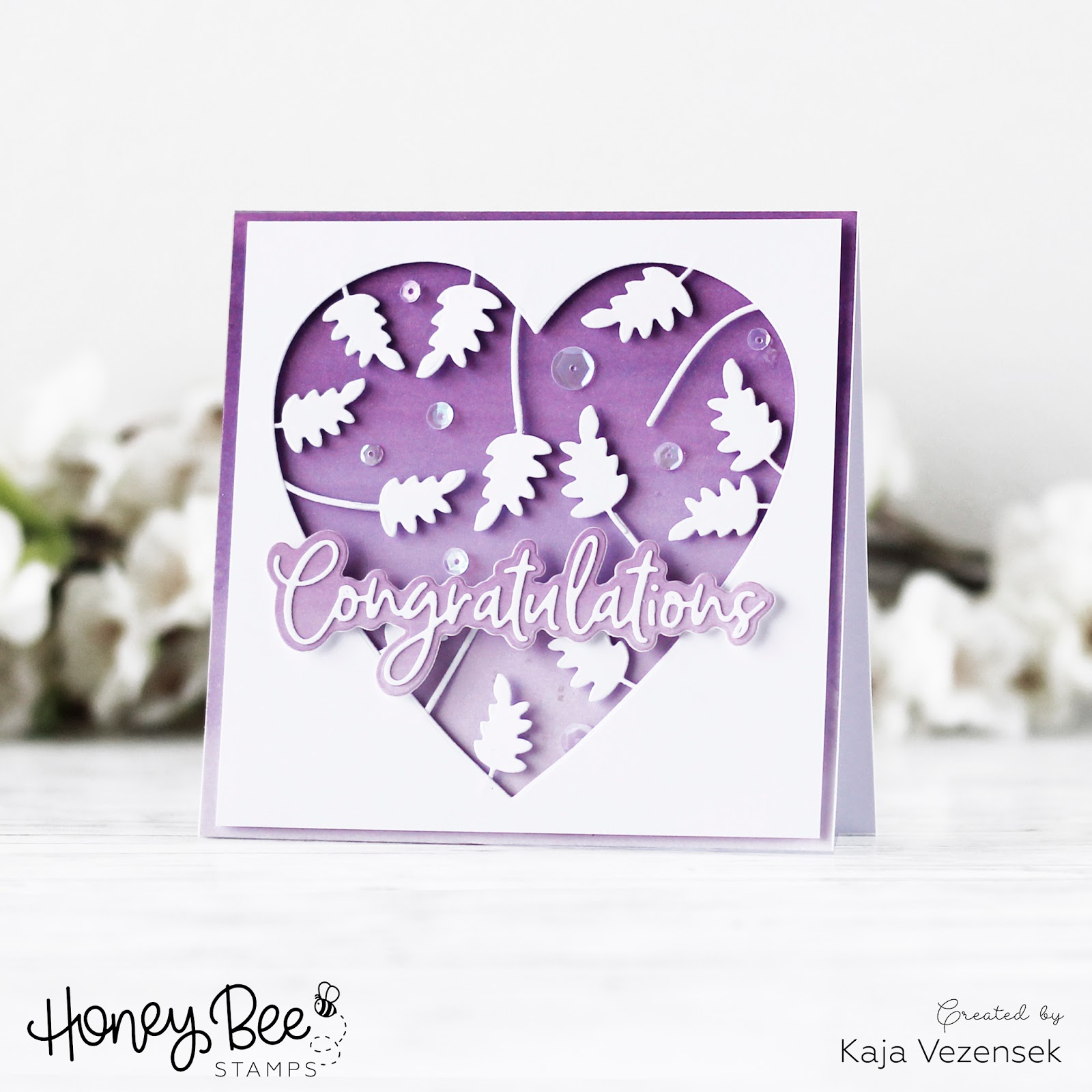 A card without stamping | HONEY BEE