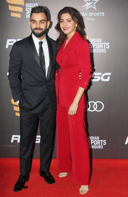 Anushka Sharma and Virat Kohli Photos at Indian Sports Honours 2017