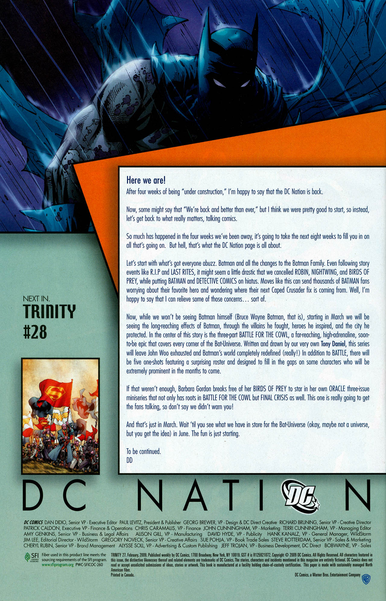 Read online Trinity (2008) comic -  Issue #27 - 36
