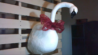 Completed Beautiful Swan Wall Sculpture