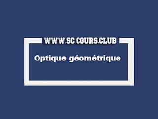 Résumés de cours d'Optique géométrique pdf, smpc s2